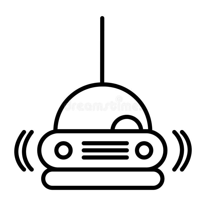 Radiobilsymbol vektor illustrationer