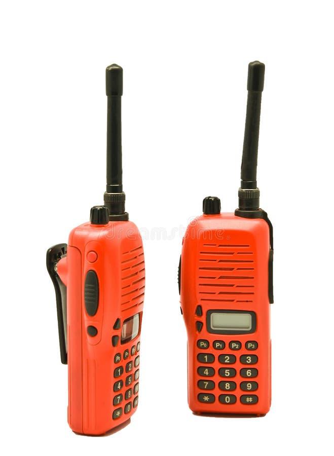 Radiocomunicação vermelha fotografia de stock