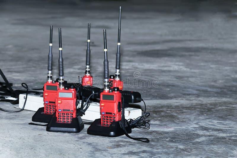 Radiocomunicazione rossa fotografie stock libere da diritti