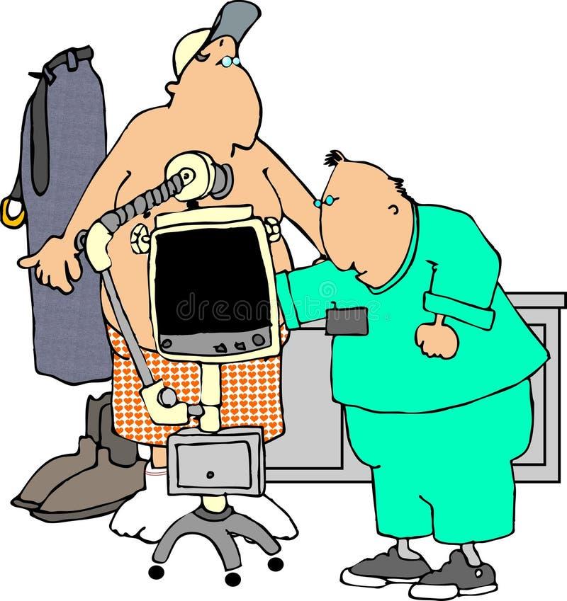 Radiografía ilustración del vector