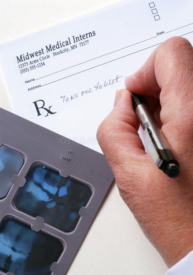 Radiografía y prescripción fotos de archivo