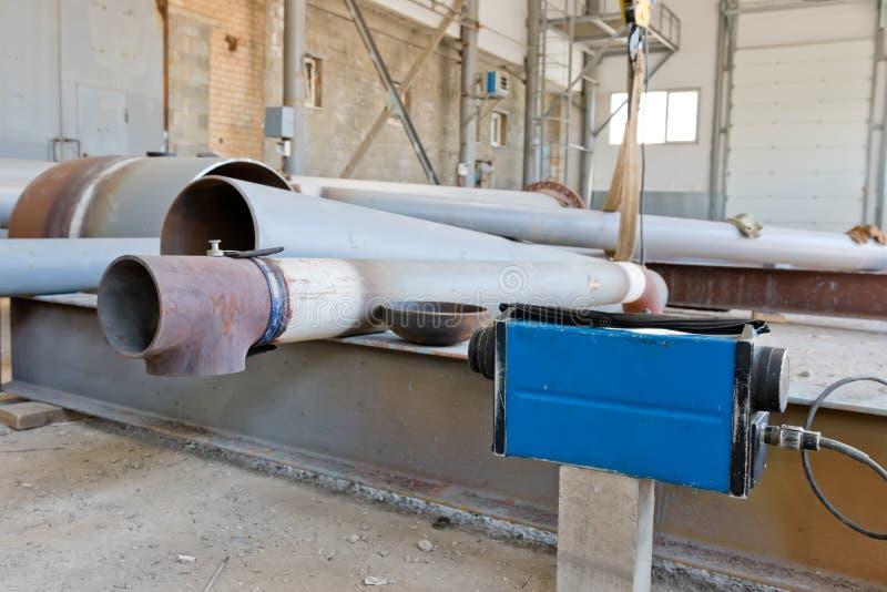 Radiograficzna kontrola spawki rurociąg po nieść zdjęcie royalty free