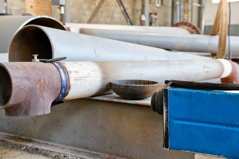 Radiograficzna kontrola spawki rurociąg po nieść fotografia stock