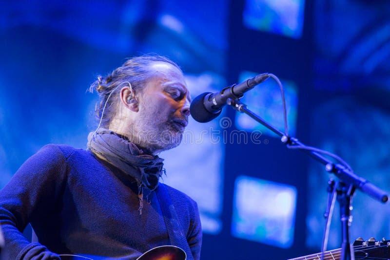 Radiohead Live lizenzfreie stockbilder