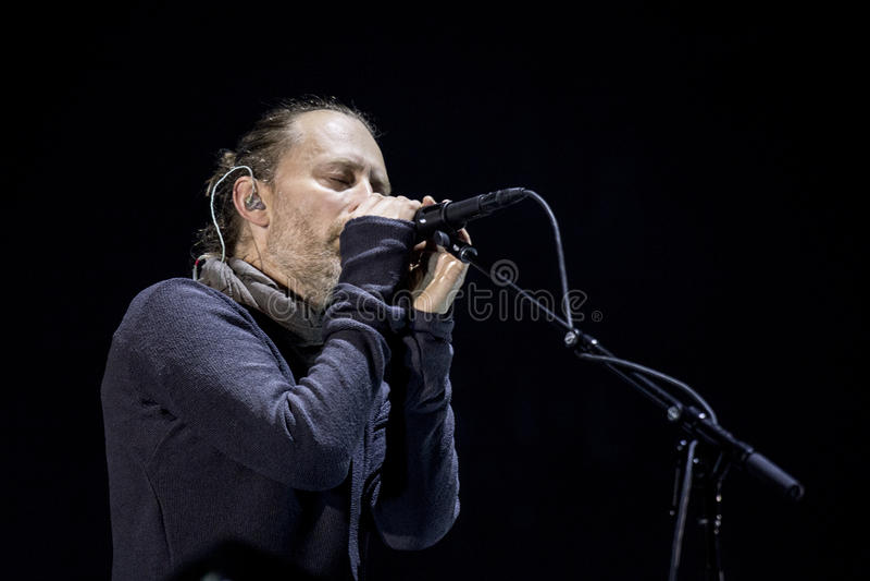 Radiohead Live stockfoto