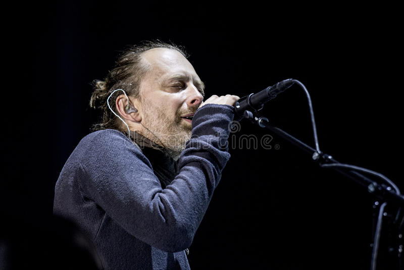 Radiohead Live stockbild