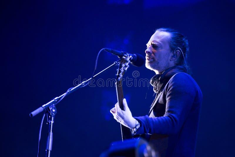 Radiohead live stock photo