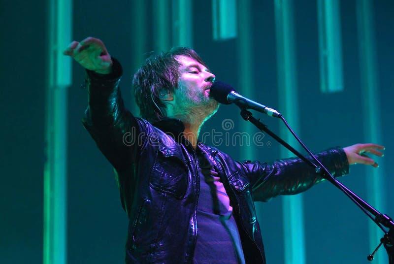 Radiohead - Thom Yorke stockbilder