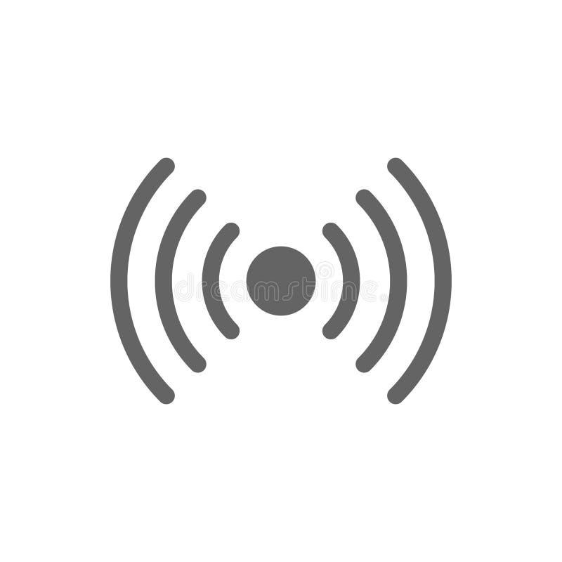 Radiolijnpictogram stock illustratie