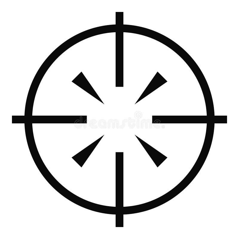 Radiolocator symbol, enkel stil stock illustrationer