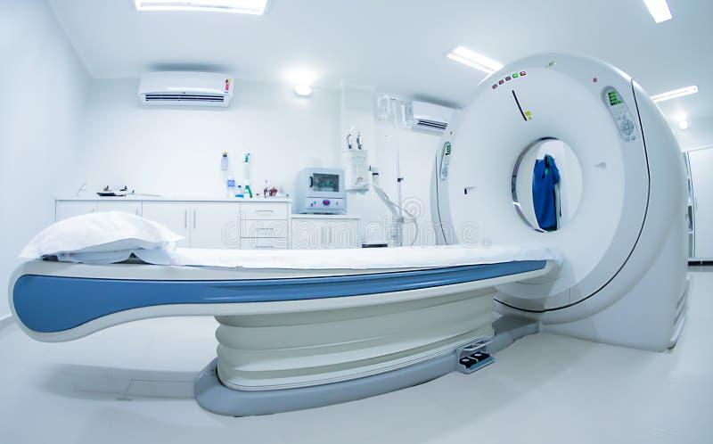 Radiologia di oncologia di salute dell'ospedale del Tomograph immagini stock libere da diritti