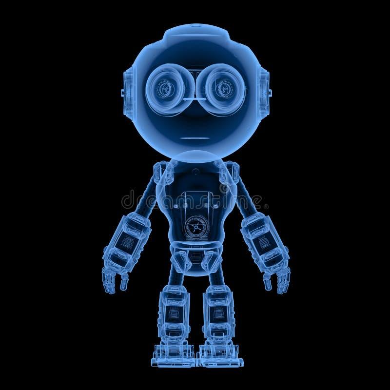 Radiologiczny mini robot royalty ilustracja