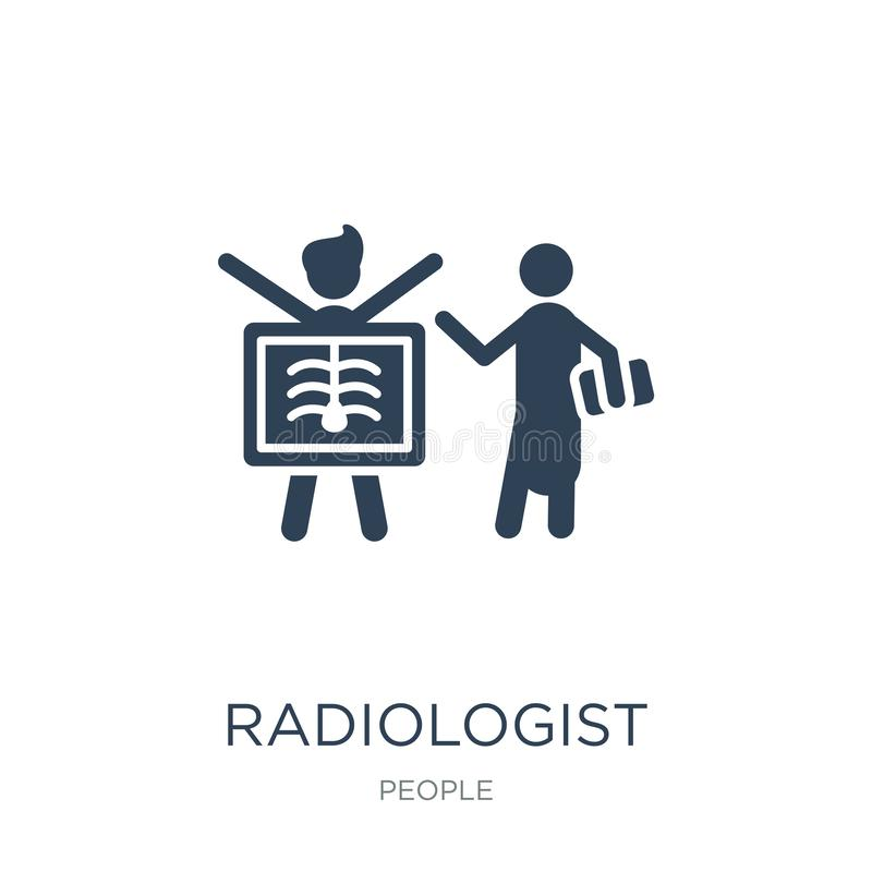 radiologist working icon in trendy design style. radiologist working icon isolated on white background. radiologist working vector royalty free illustration