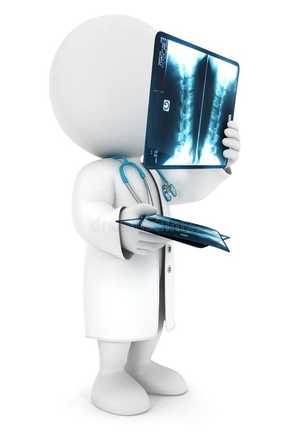radiologiste blanc des gens 3d illustration stock