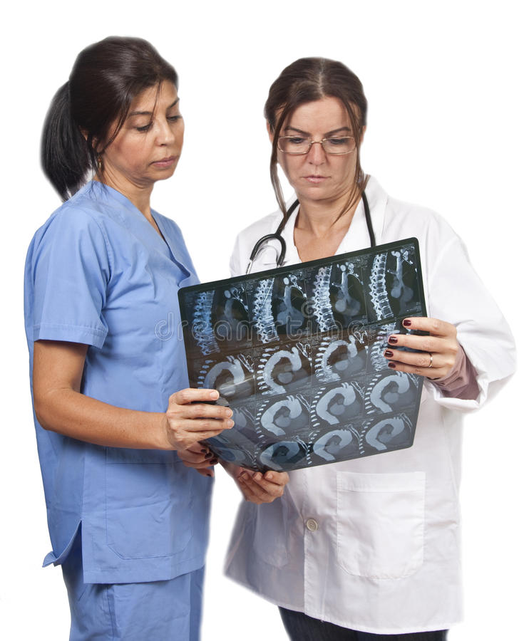 Radiology doctor and nurse stock photos