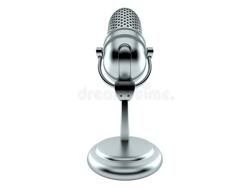 Radiomicrofoon stock illustratie