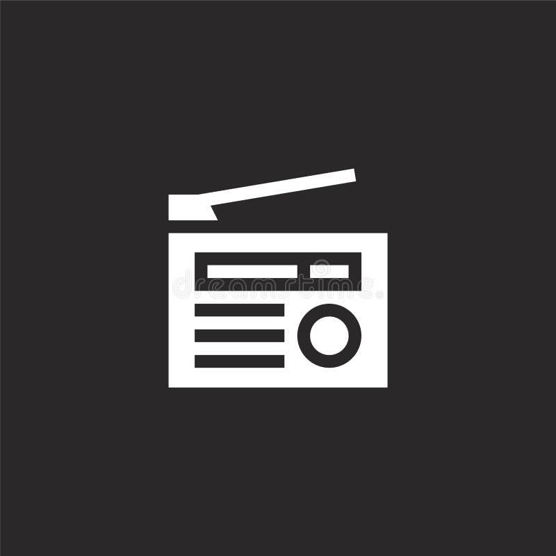 Radiopictogram Gevuld radiopictogram voor websiteontwerp en mobiel, app ontwikkeling radiopictogram van gevulde hobbys en freetim vector illustratie