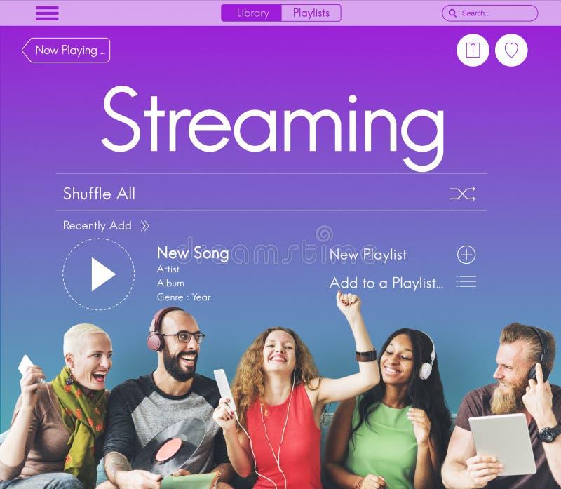 RadioPodcastmusik Joy Concept royaltyfria bilder
