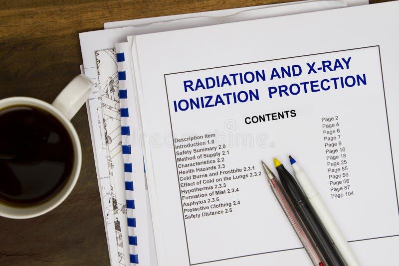 Radioprotezione di ionizzazione fotografie stock