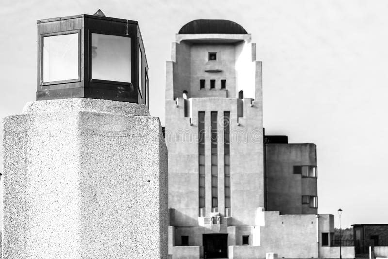 Radiosända Kootwijk arkitekturbyggnad, Gelderland, Holland arkivbild