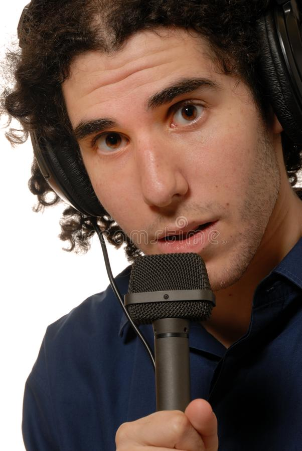 Radiosände presentatören/DJ royaltyfri fotografi