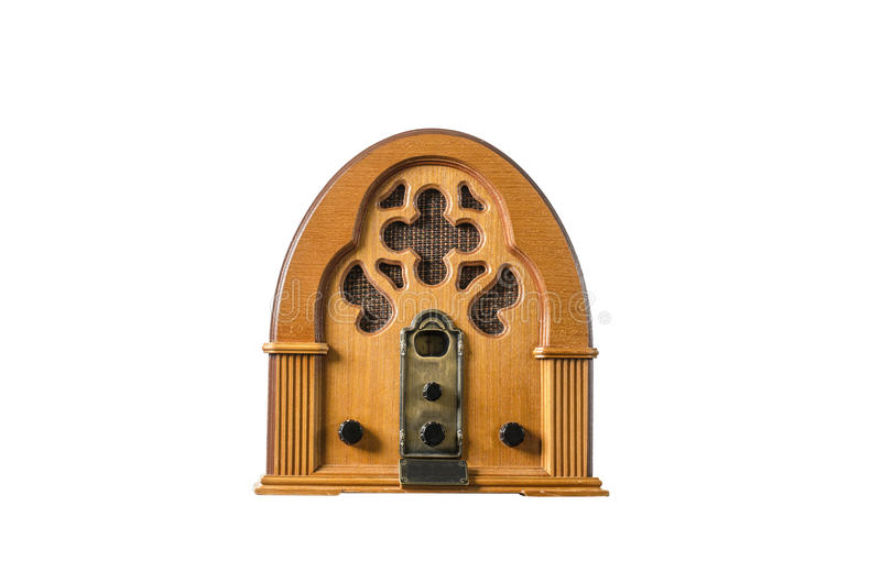 Radiospielerweinlese alt stockbild