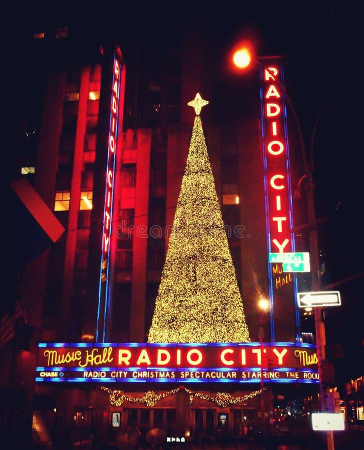 Radiostad, New York stock afbeelding