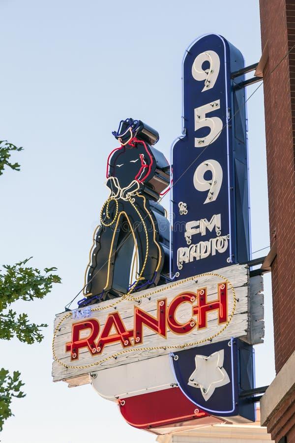 Radiostation in Fort Worth, Texas, de V.S. royalty-vrije stock afbeelding