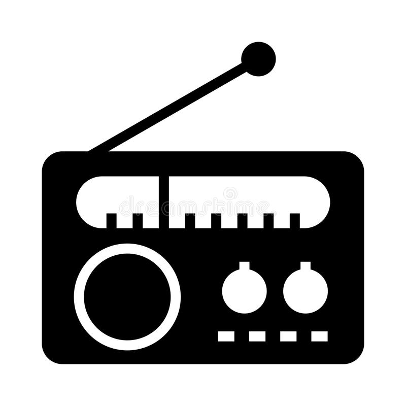 Radiosymbol royaltyfri illustrationer