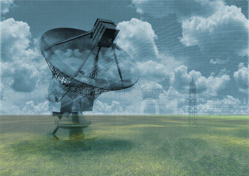 Radiotélescope illustration stock