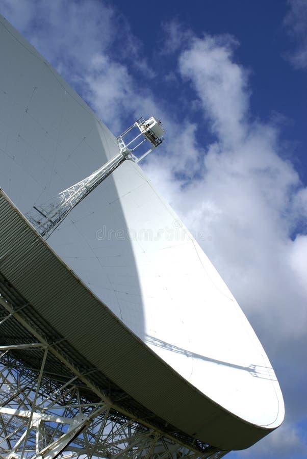 Radiotélescope de côté de Jodrell photo stock