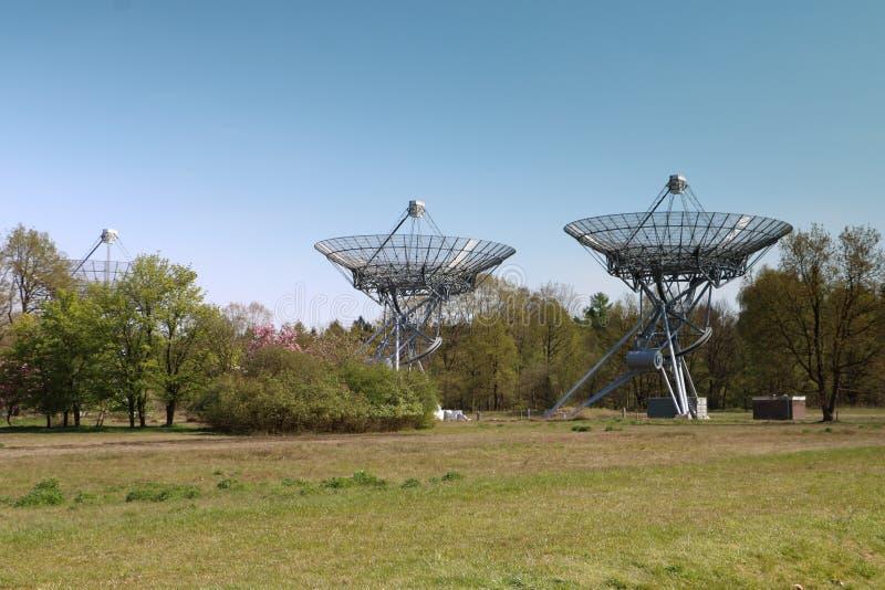 Radiotélescopes aux Pays-Bas photos libres de droits