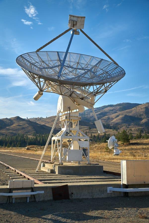 Radiotelescoop Blauwe Hemel stock fotografie