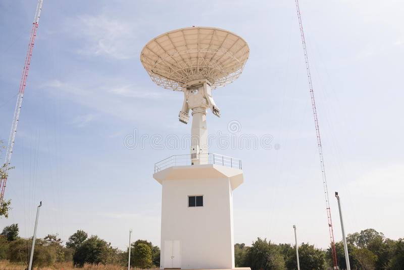 Radiotelescopes στην Ταϊλάνδη στοκ εικόνα με δικαίωμα ελεύθερης χρήσης
