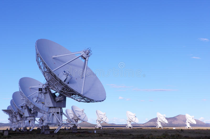 Radiotelescopes. At the Very Large Array, the National Radio Observatory in New Mexico stock image