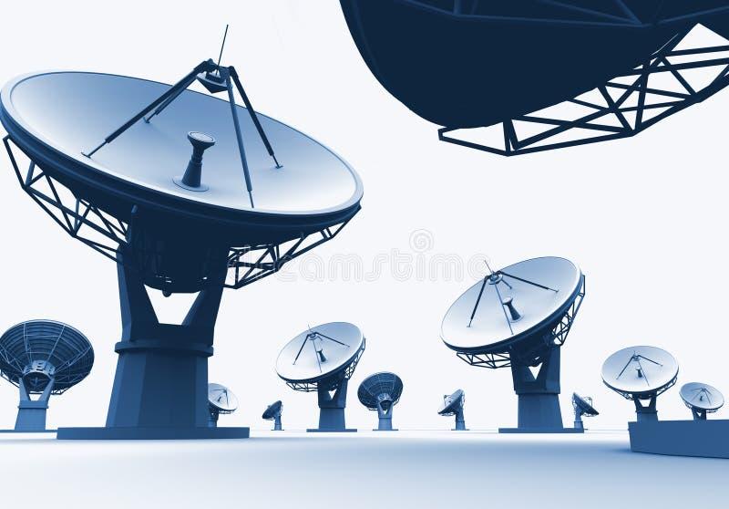Radiotelescopes stock illustratie