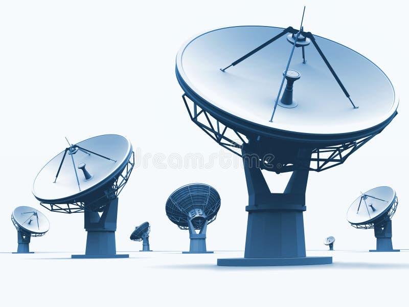 radiotelescopes иллюстрация штока