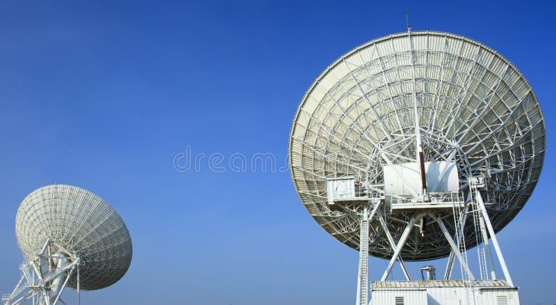 Radiotelescopes przy Prawdziwym Wielkim Szykiem obrazy stock