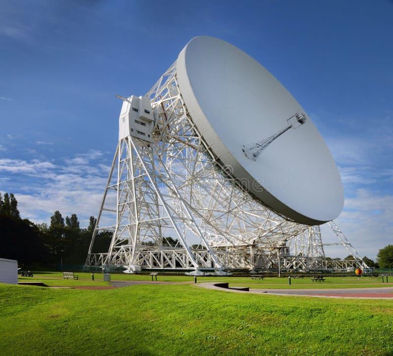 Radiotelescopio Cheshire England della Banca di Jodrell 16 settembre 2015 fotografie stock libere da diritti