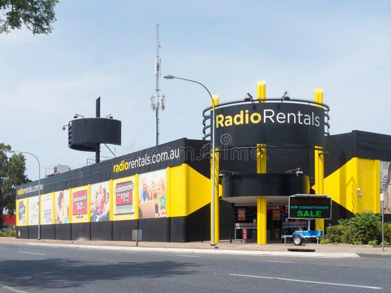 Radiouthyrningsbutiker i Australien royaltyfri foto
