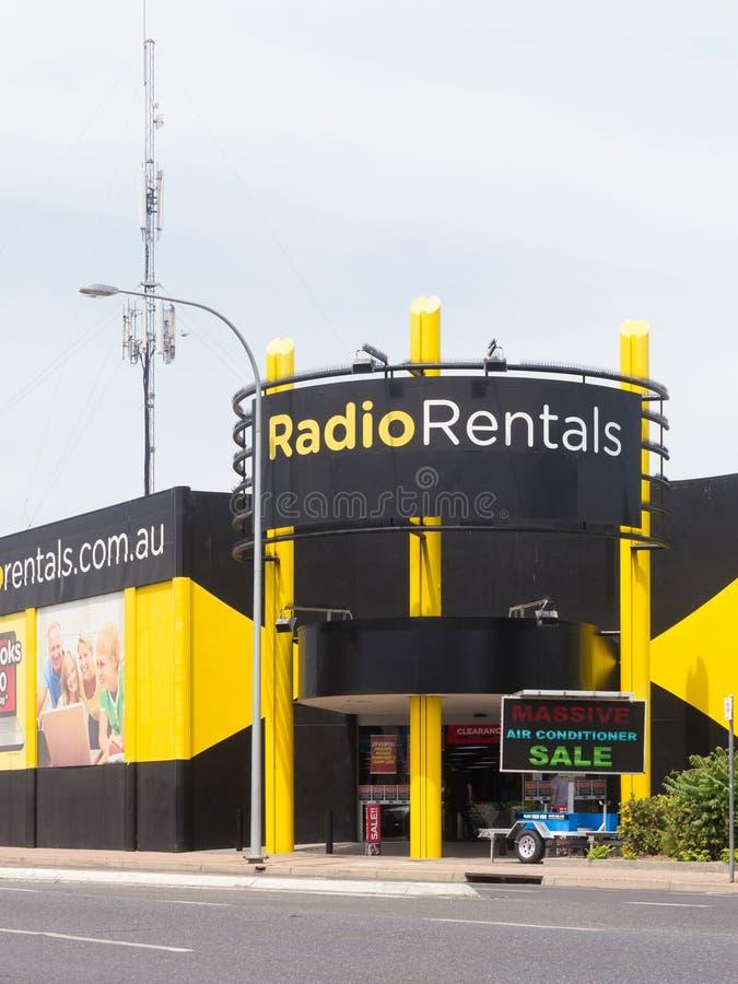 Radiouthyrningsbutiker i Australien arkivbild