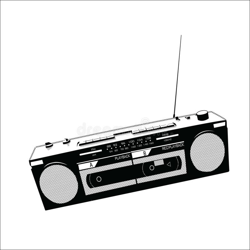 Radiovektorillustration arkivfoto