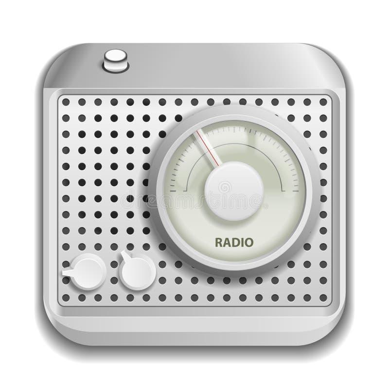 Radiowa app ikona ilustracja wektor