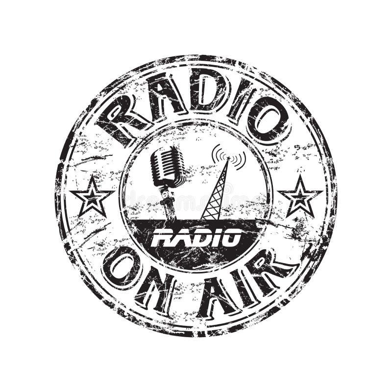 radiowa grunge pieczątka ilustracja wektor