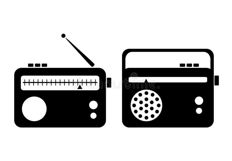 Radiowa ikona royalty ilustracja
