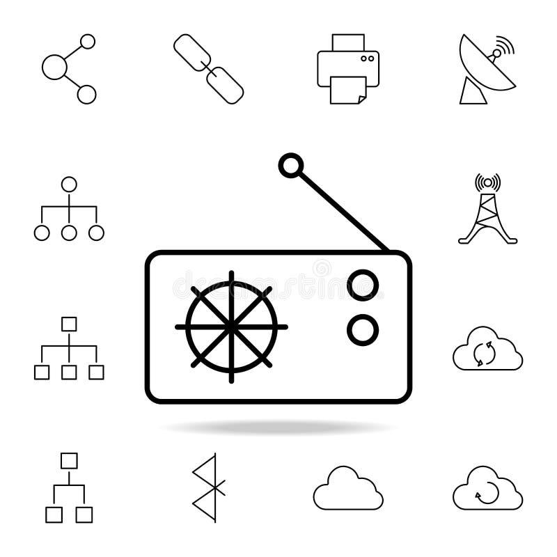 radiowa technologii ikona Szczegółowy set proste ikony Premia graficzny projekt Jeden inkasowe ikony dla stron internetowych, sie royalty ilustracja