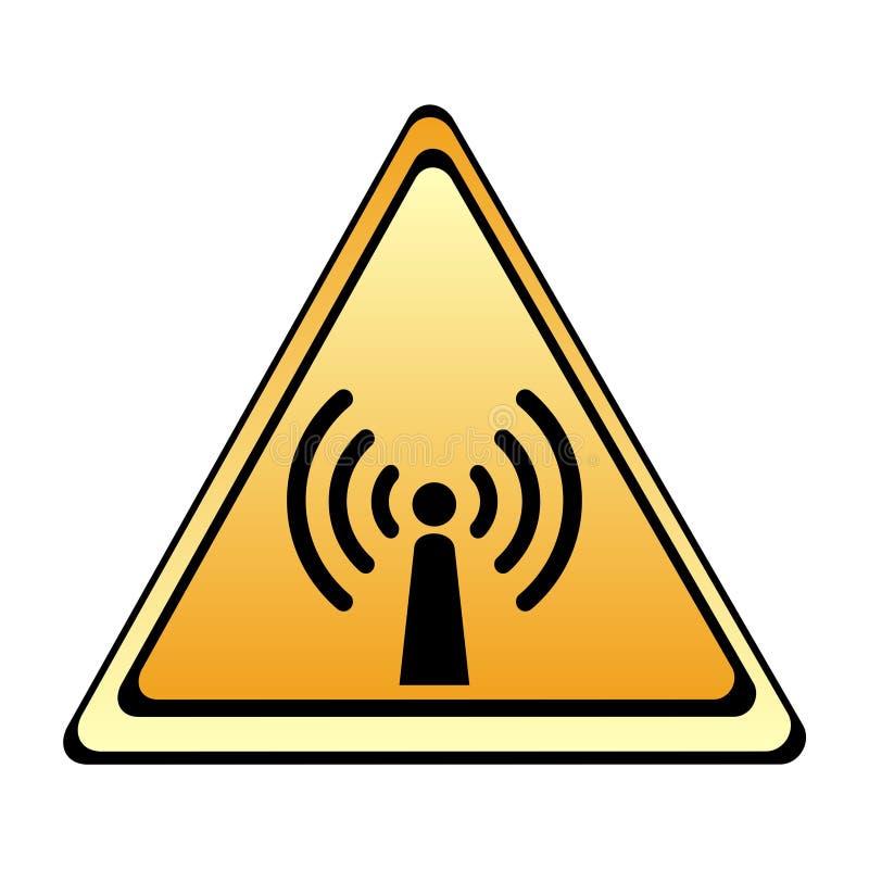 radiowe szyldowe ostrzegawcze fala ilustracji
