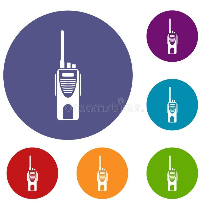 Radiowego nadajnika ikony ustawiać ilustracja wektor