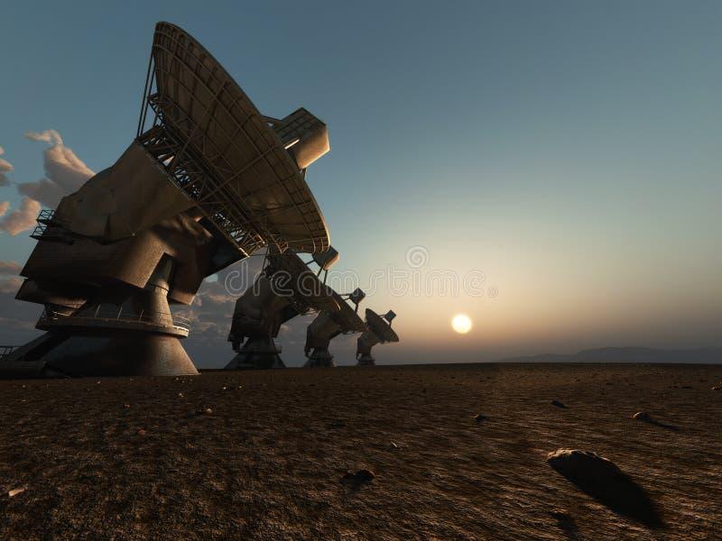radiowy łatwość teleskop ilustracja wektor
