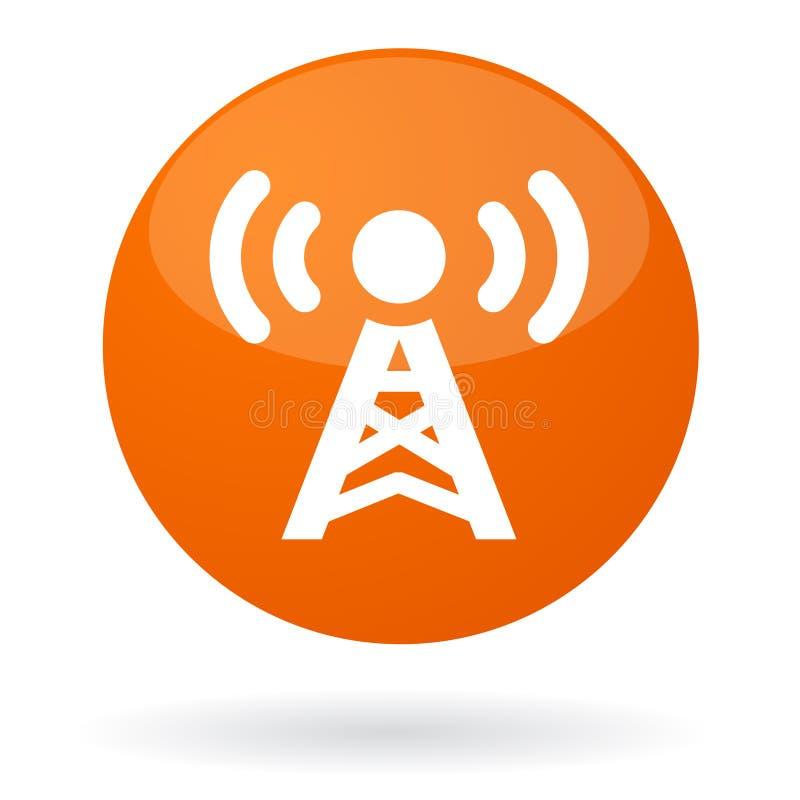 radiowy guzika sygnał ilustracja wektor